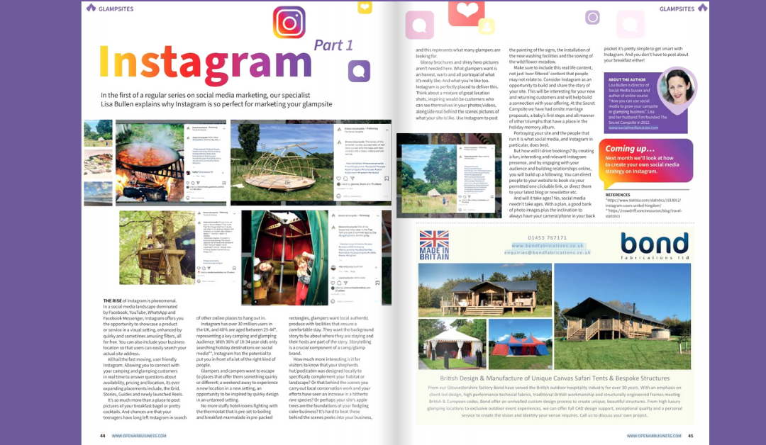 """Open Air Business"" magazine Social Media Sussex article"